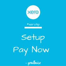 Xero Tip - Setup Pay Now