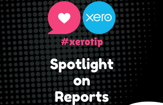 Xero Tip - Let's take a look at Reports